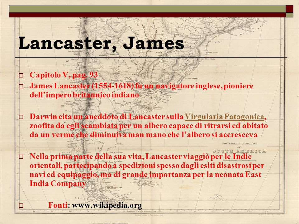 Lancaster, James Capitolo V, pag. 93