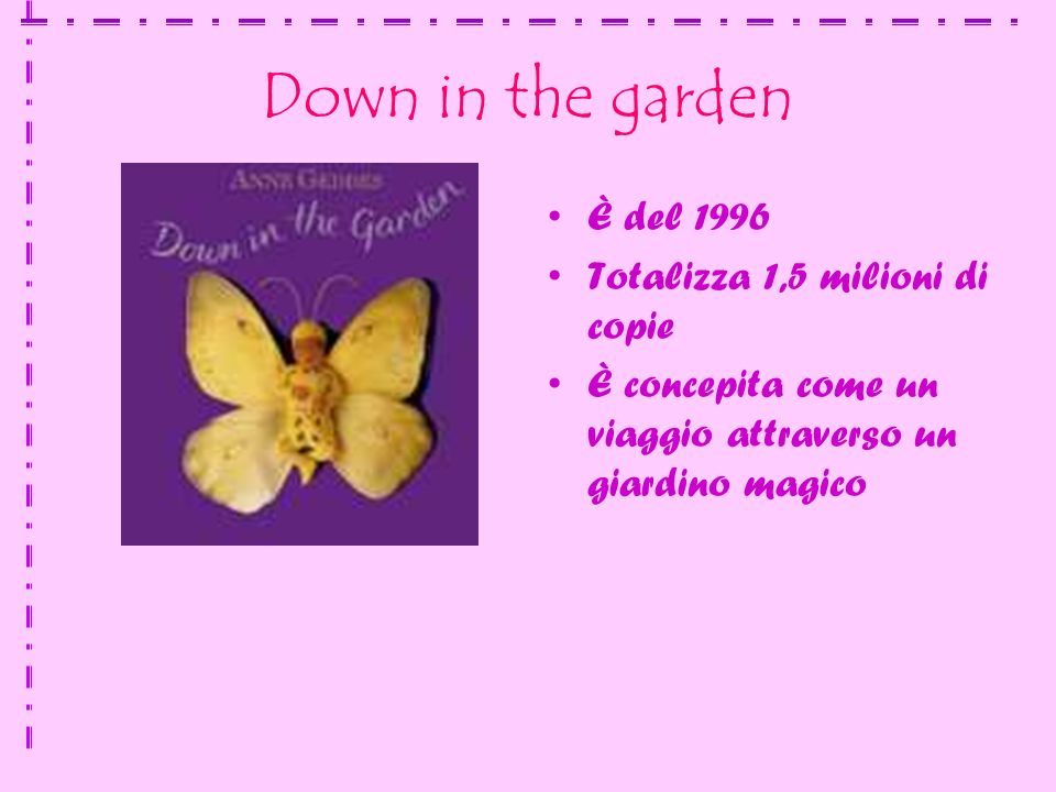 Down in the garden È del 1996 Totalizza 1,5 milioni di copie