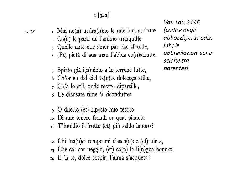 Vat. Lat. 3196 (codice degli abbozzi), c. 1r ediz. int