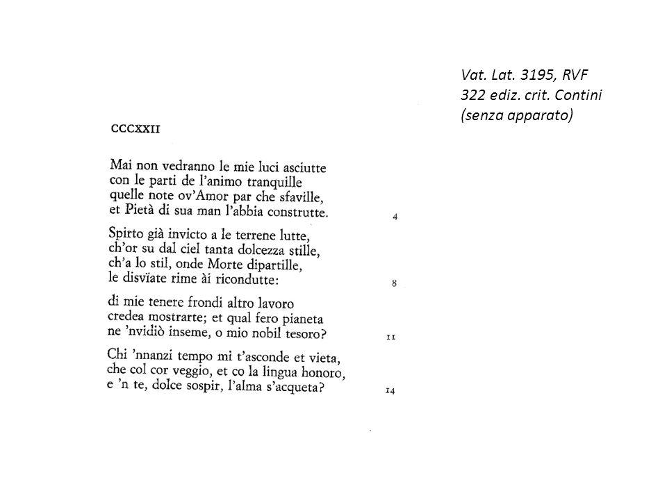 Vat. Lat. 3195, RVF 322 ediz. crit. Contini (senza apparato)