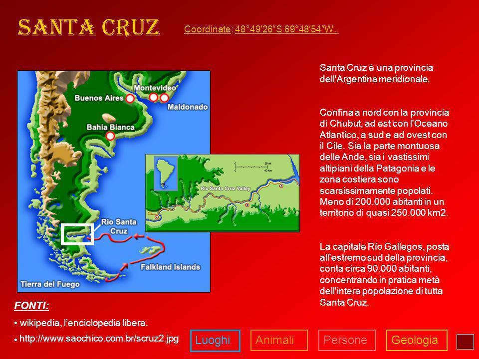 Santa Cruz Luoghi Animali Persone Geologia FONTI: