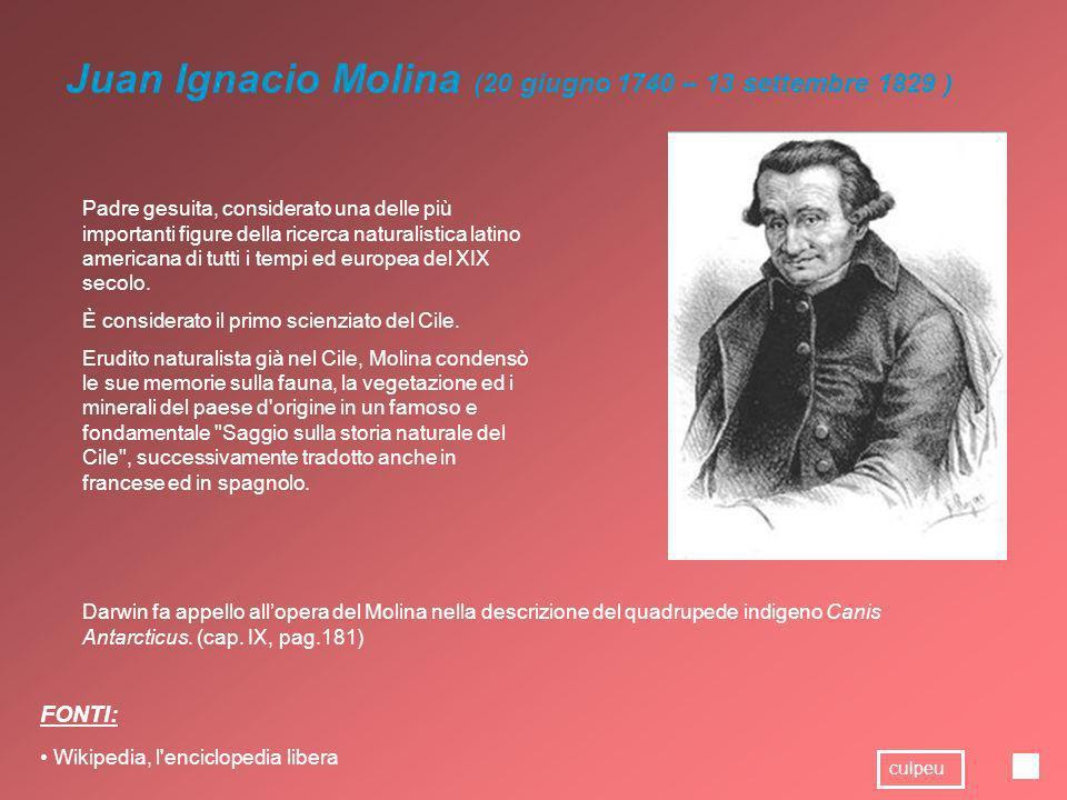 Juan Ignacio Molina (20 giugno 1740 – 13 settembre 1829 )