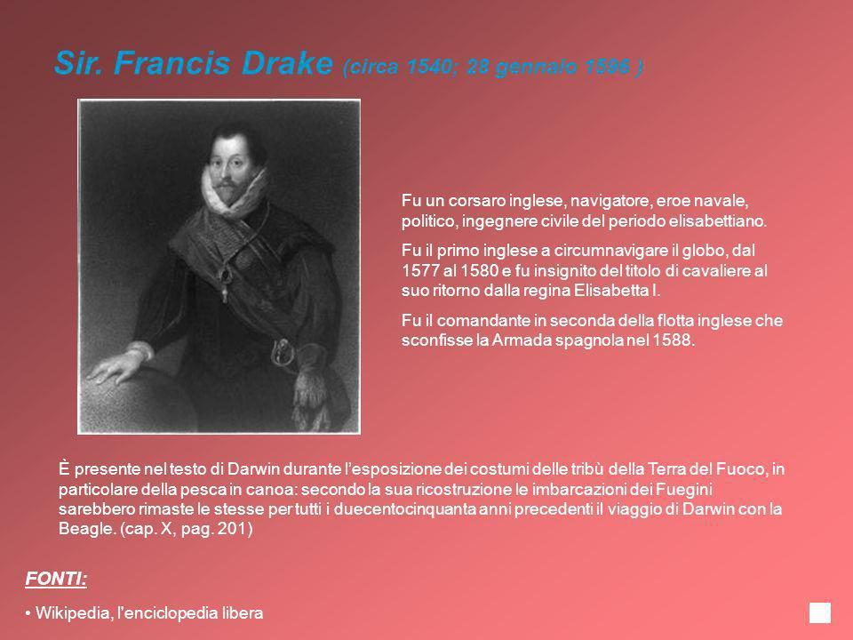 Sir. Francis Drake (circa 1540; 28 gennaio 1596 )