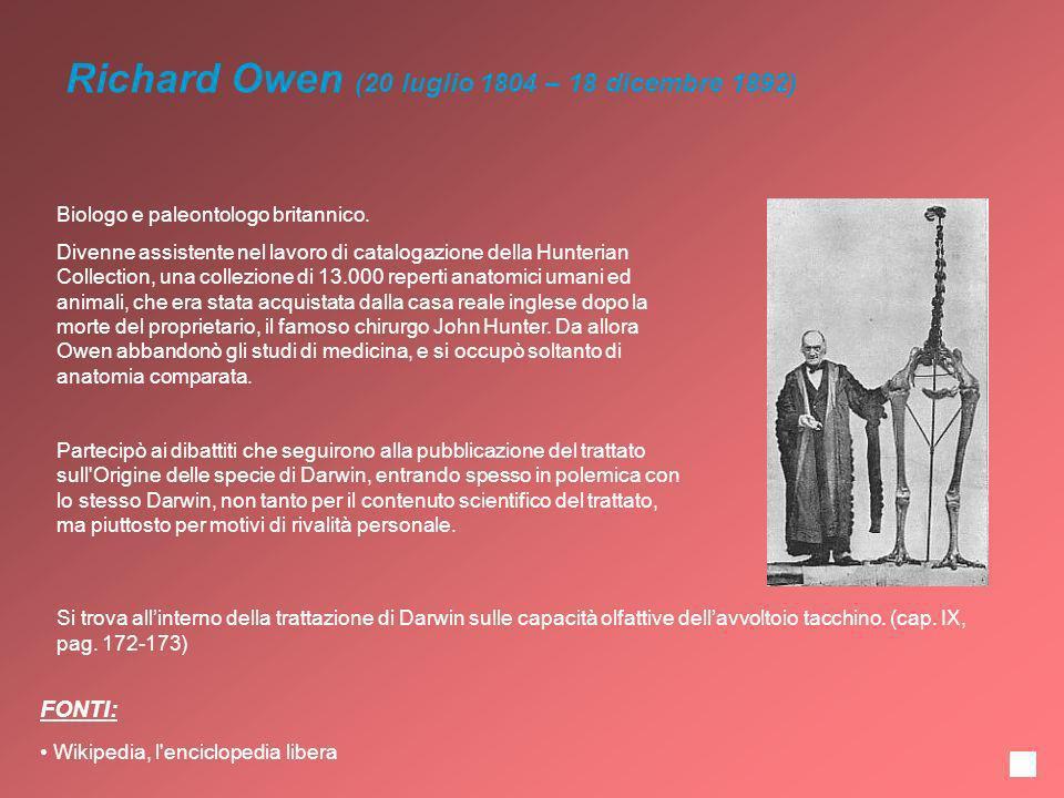 Richard Owen (20 luglio 1804 – 18 dicembre 1892)