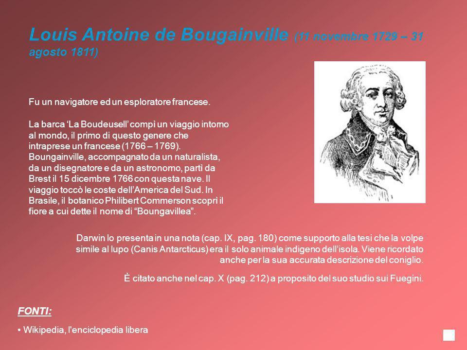 Louis Antoine de Bougainville (11 novembre 1729 – 31 agosto 1811)