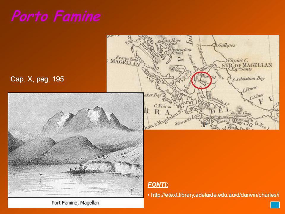 Porto Famine Cap. X, pag. 195 FONTI: