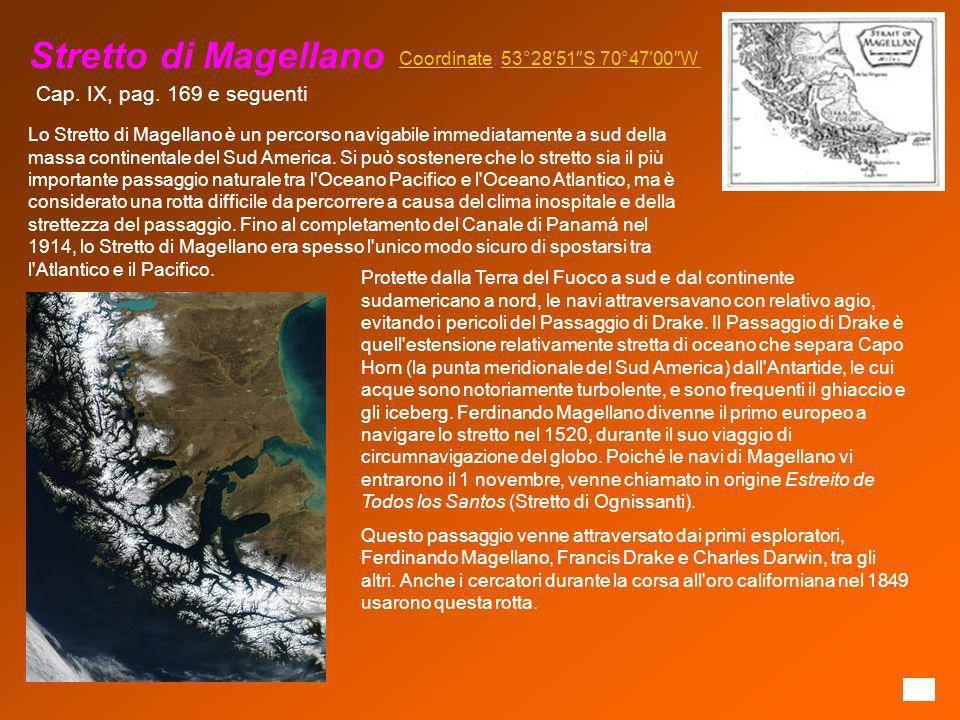 Stretto di Magellano Cap. IX, pag. 169 e seguenti