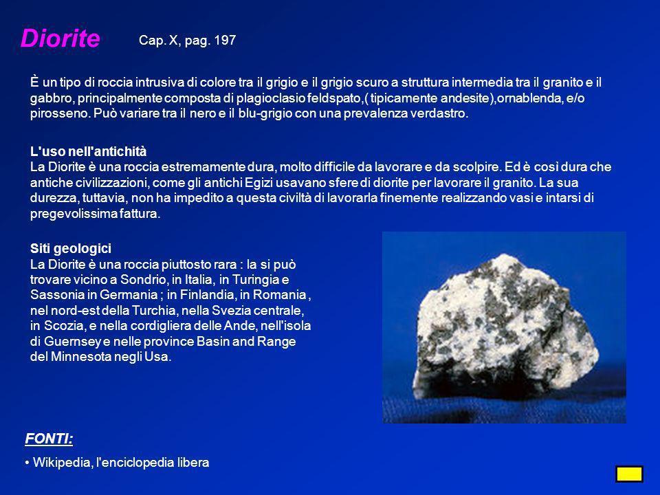 Diorite FONTI: Cap. X, pag. 197