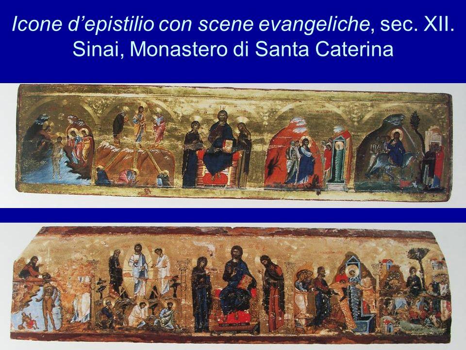 Icone d'epistilio con scene evangeliche, sec. XII