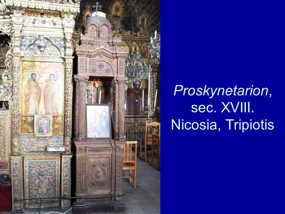 Proskynetarion, sec. XVIII. Nicosia, Tripiotis
