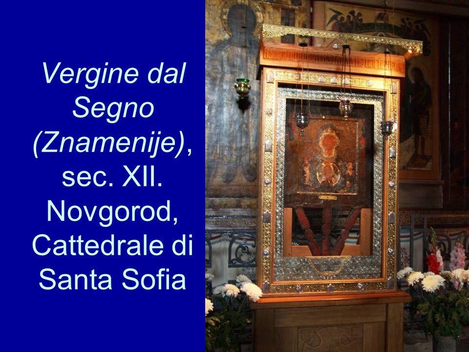Vergine dal Segno (Znamenije), sec. XII