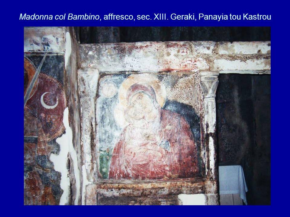 Madonna col Bambino, affresco, sec. XIII. Geraki, Panayia tou Kastrou