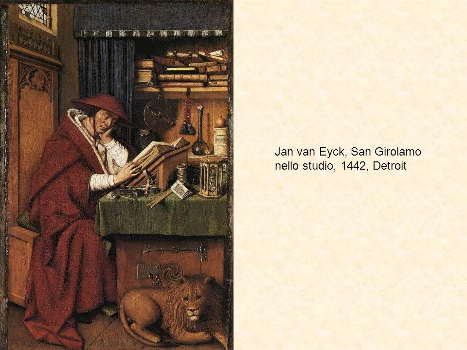Jan van Eyck, San Girolamo nello studio, 1442, Detroit