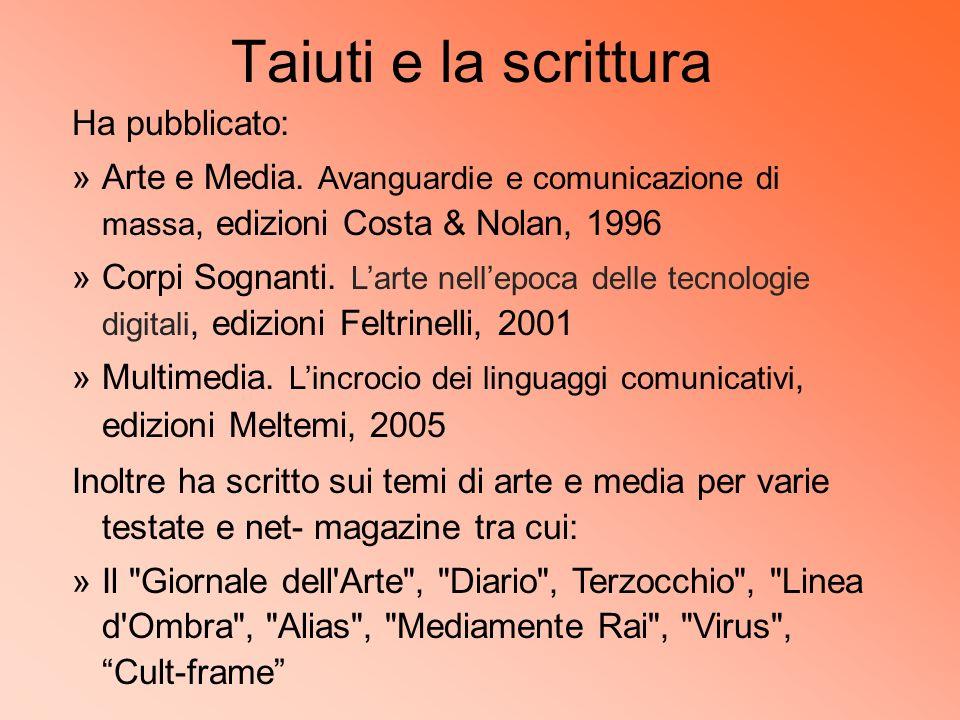 Taiuti e la scrittura Ha pubblicato: