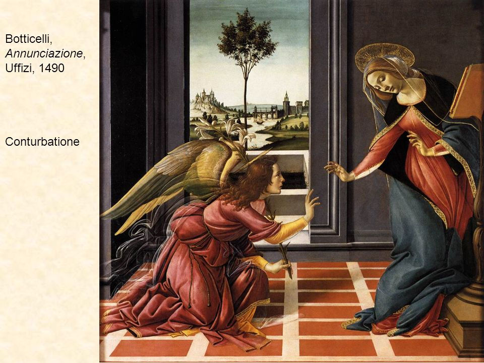 Botticelli, Annunciazione, Uffizi, 1490