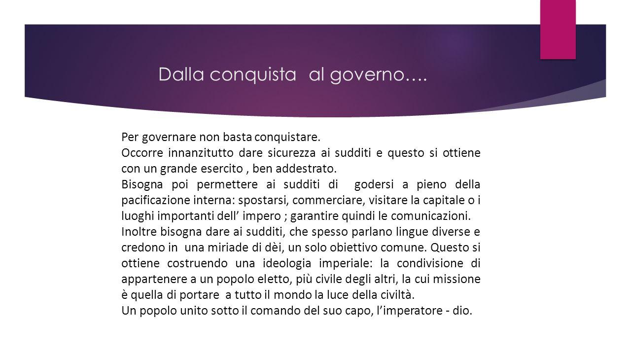 Dalla conquista al governo….