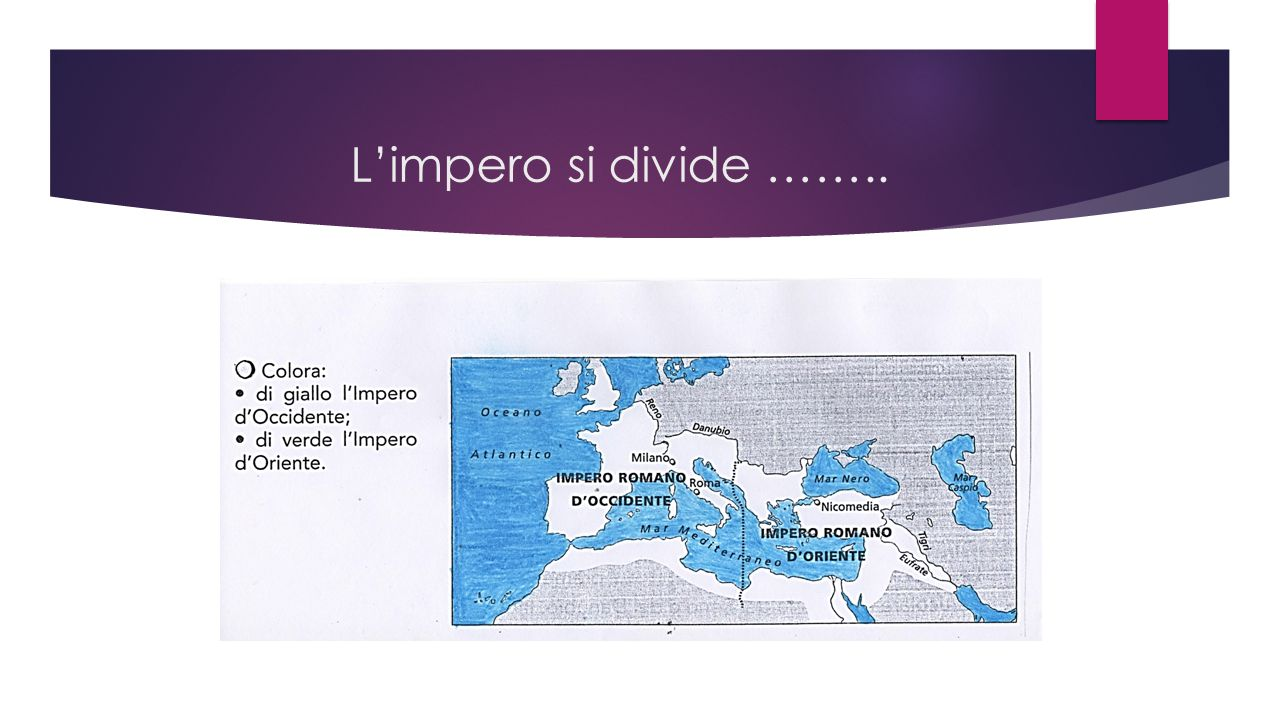 L'impero si divide ……..