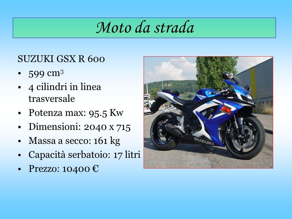 Moto da strada SUZUKI GSX R 600 599 cm3