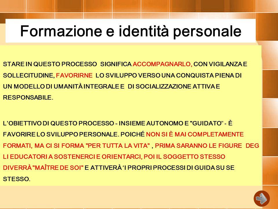 Formazione e identità personale