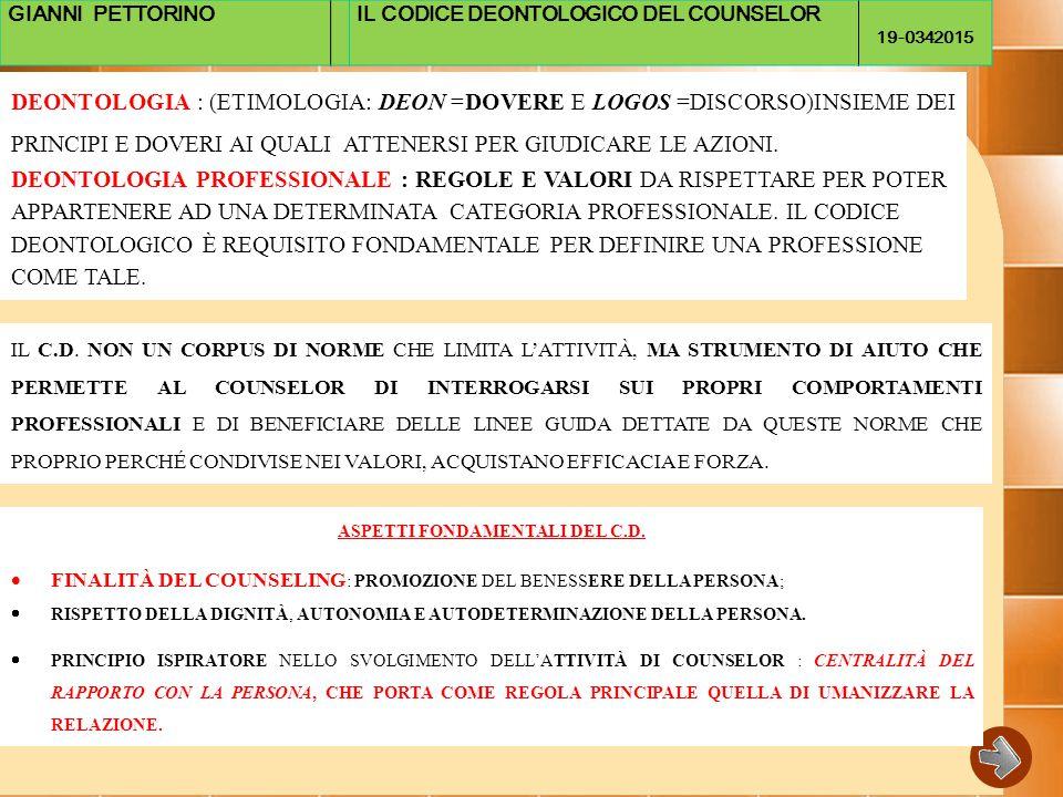 ASPETTI FONDAMENTALI DEL C.D.