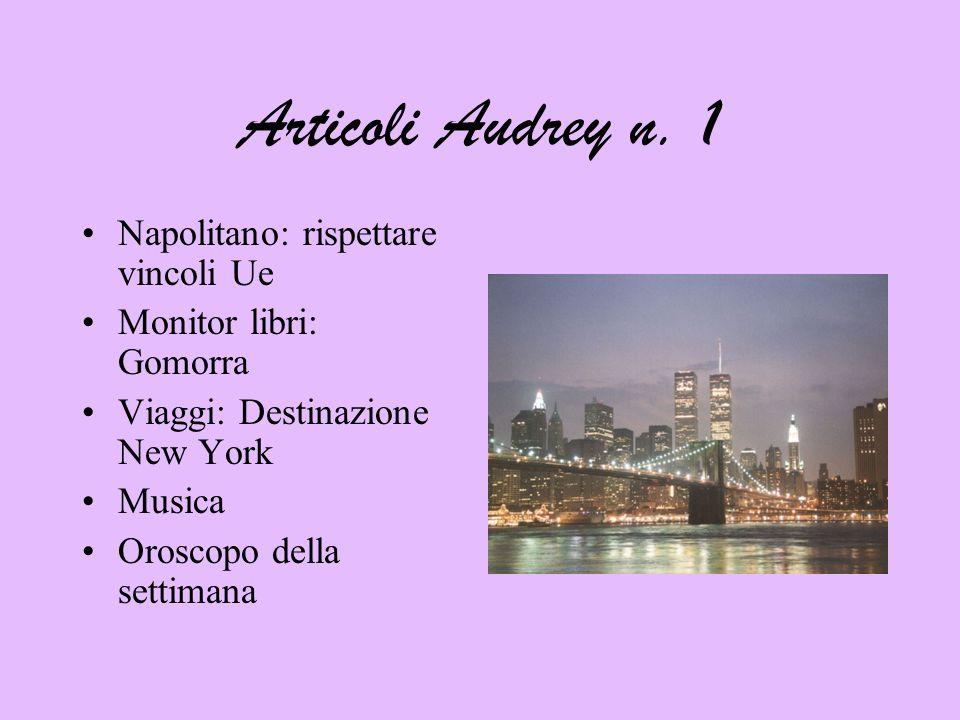 Articoli Audrey n. 1 Napolitano: rispettare vincoli Ue