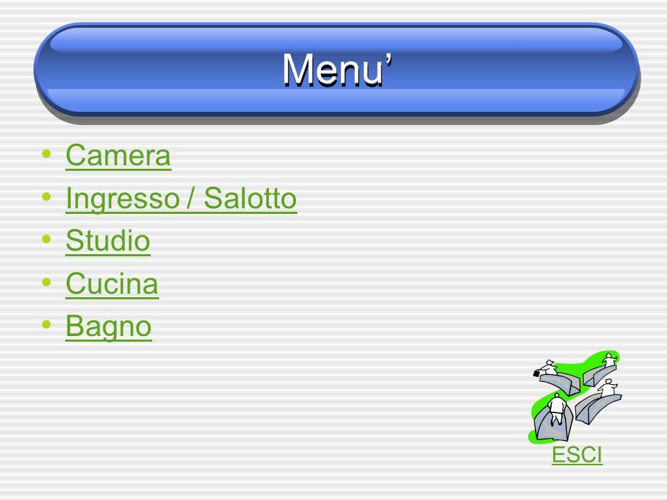 Menu' Camera Ingresso / Salotto Studio Cucina Bagno ESCI