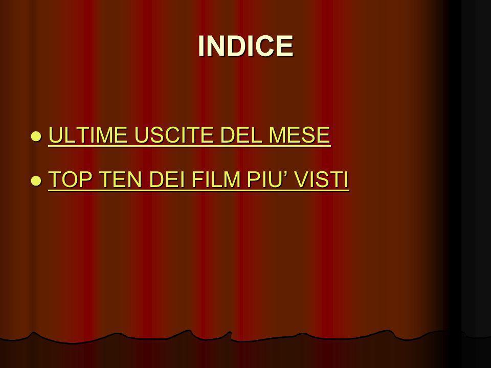 INDICE ULTIME USCITE DEL MESE TOP TEN DEI FILM PIU' VISTI