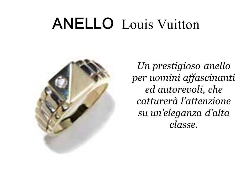 ANELLO Louis Vuitton Un prestigioso anello per uomini affascinanti ed autorevoli, che catturerà l'attenzione su un'eleganza d'alta classe.