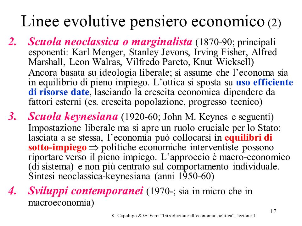 Linee evolutive pensiero economico (2)