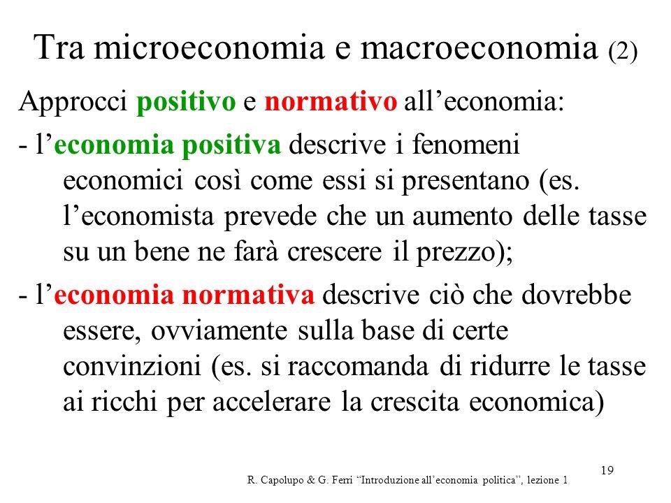 Tra microeconomia e macroeconomia (2)