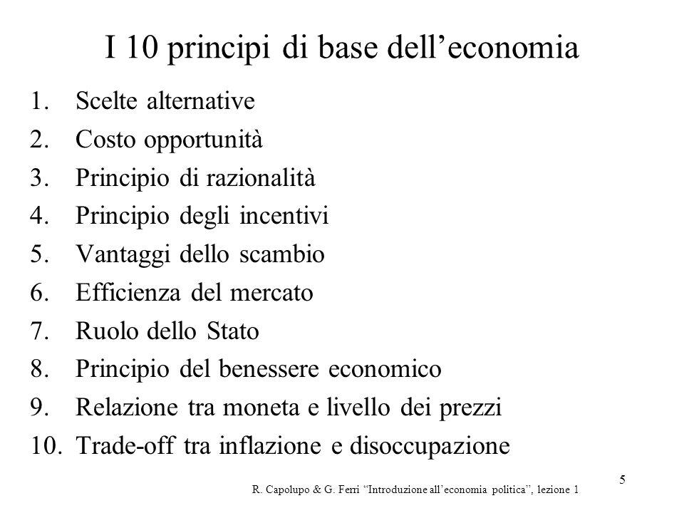 I 10 principi di base dell'economia