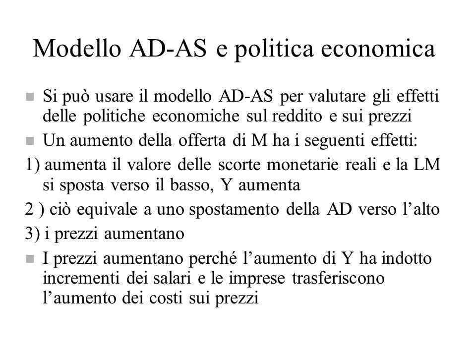 Modello AD-AS e politica economica