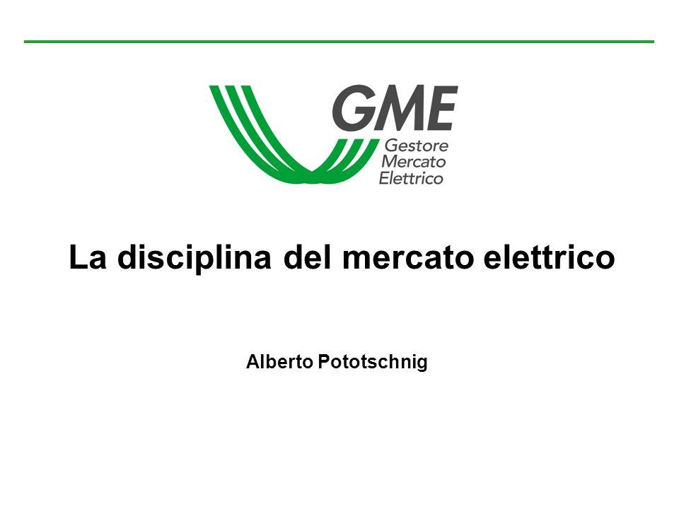 La disciplina del mercato elettrico