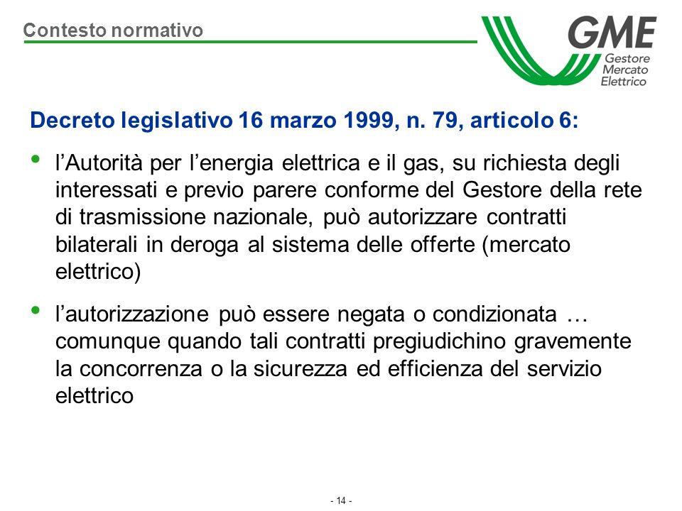 Decreto legislativo 16 marzo 1999, n. 79, articolo 6:
