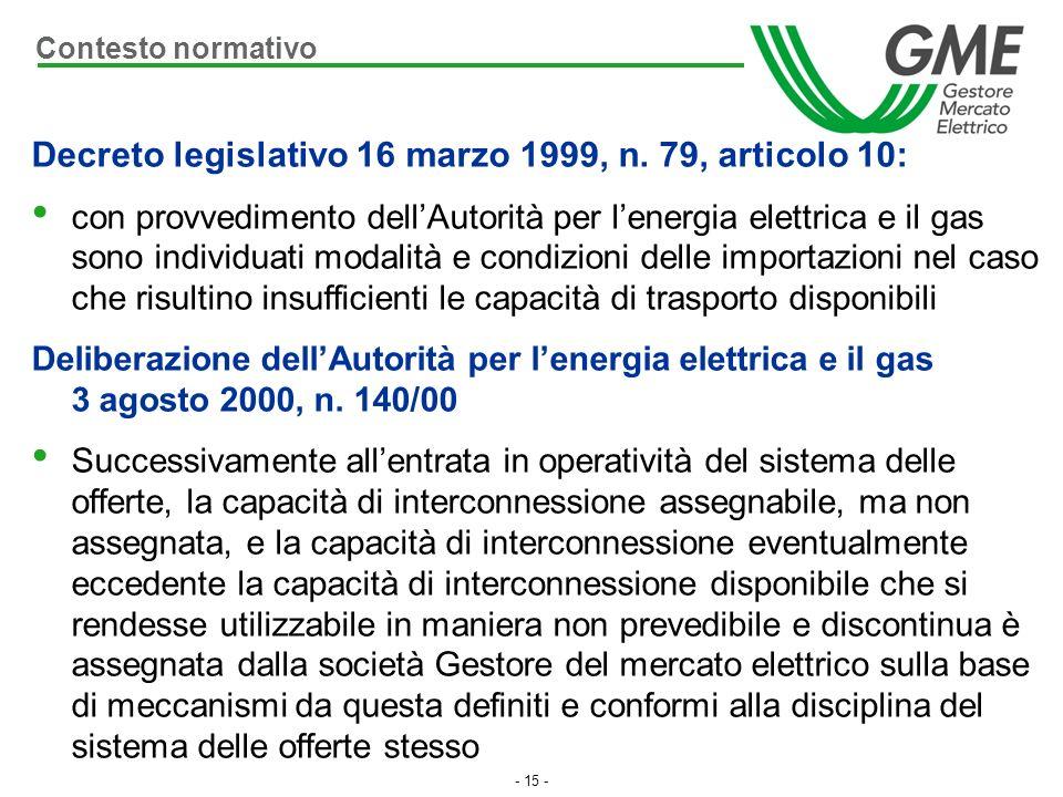 Decreto legislativo 16 marzo 1999, n. 79, articolo 10:
