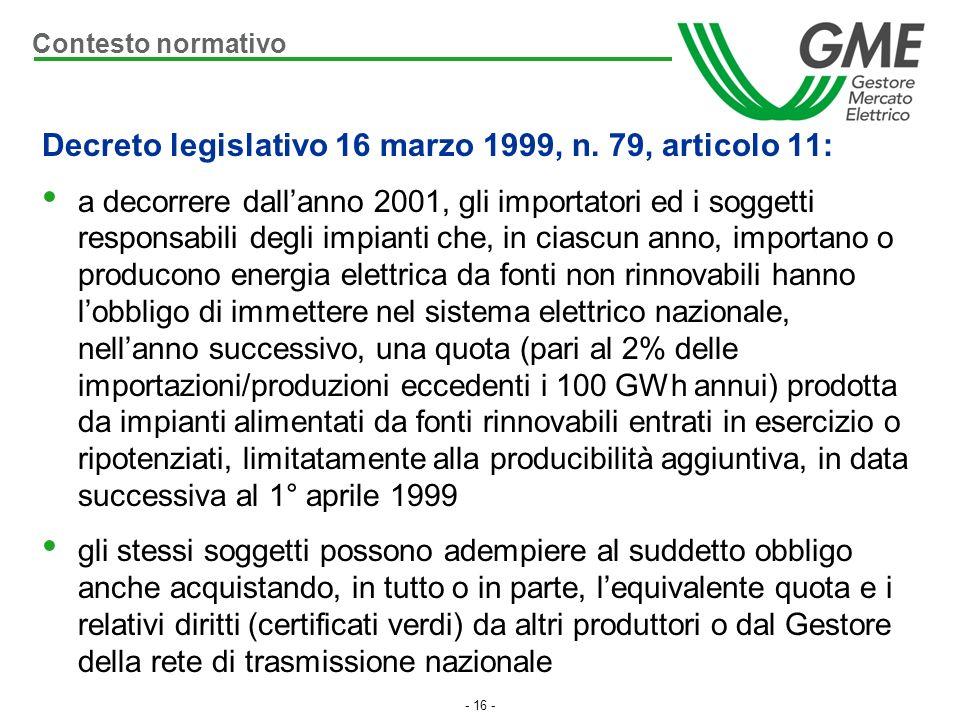 Decreto legislativo 16 marzo 1999, n. 79, articolo 11: