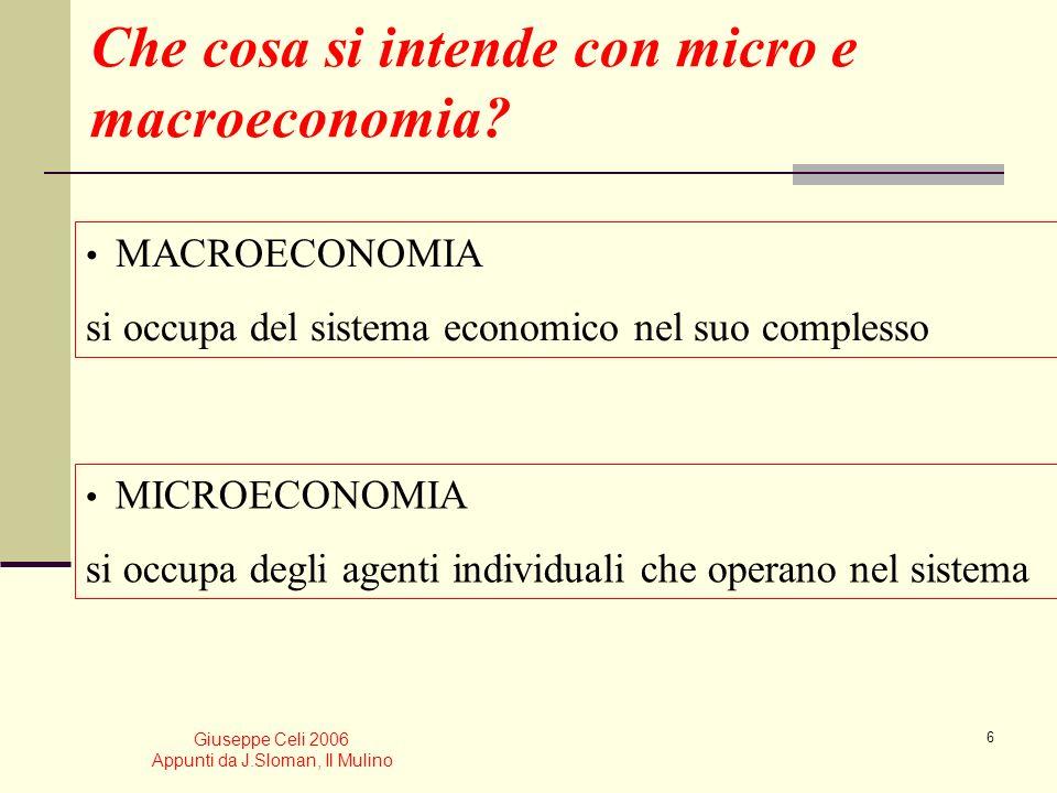 Che cosa si intende con micro e macroeconomia