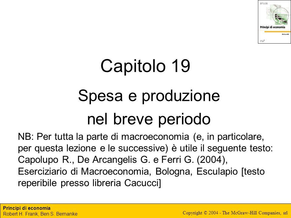 Capitolo 19 Spesa e produzione nel breve periodo