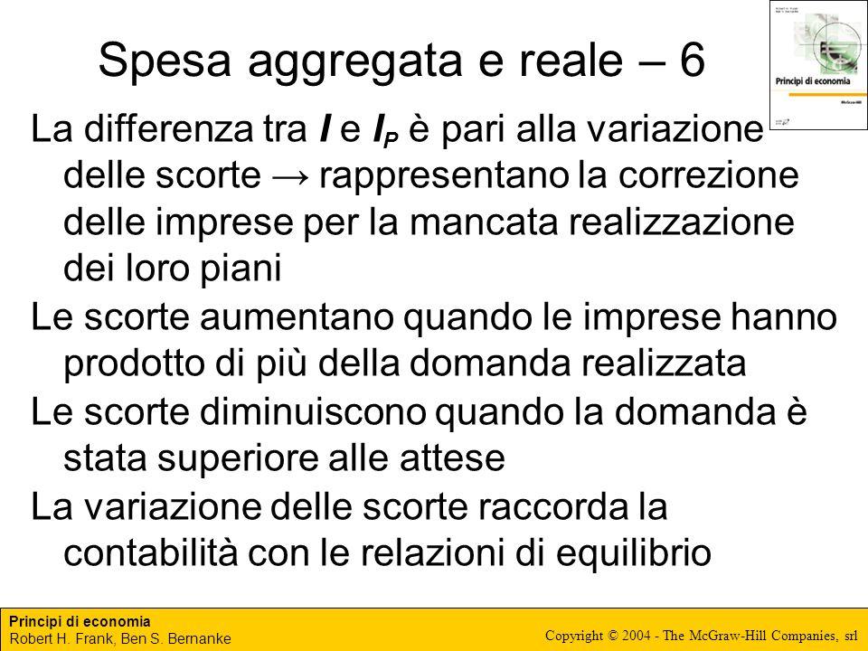 Spesa aggregata e reale – 6