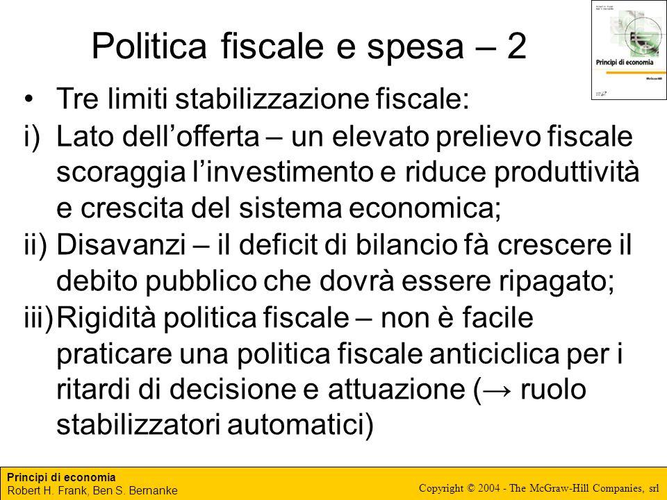 Politica fiscale e spesa – 2