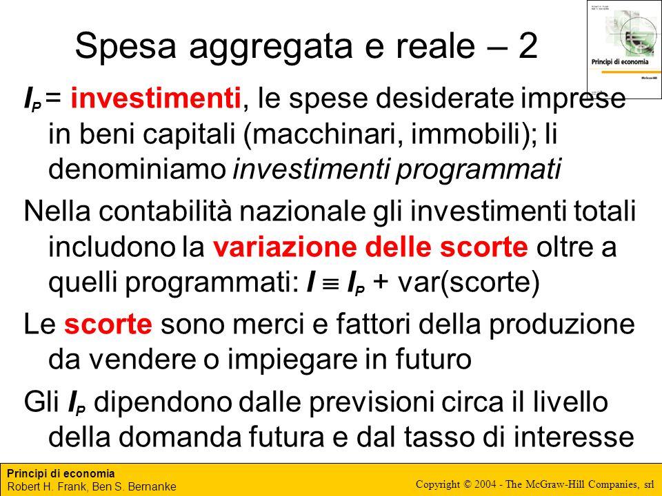 Spesa aggregata e reale – 2