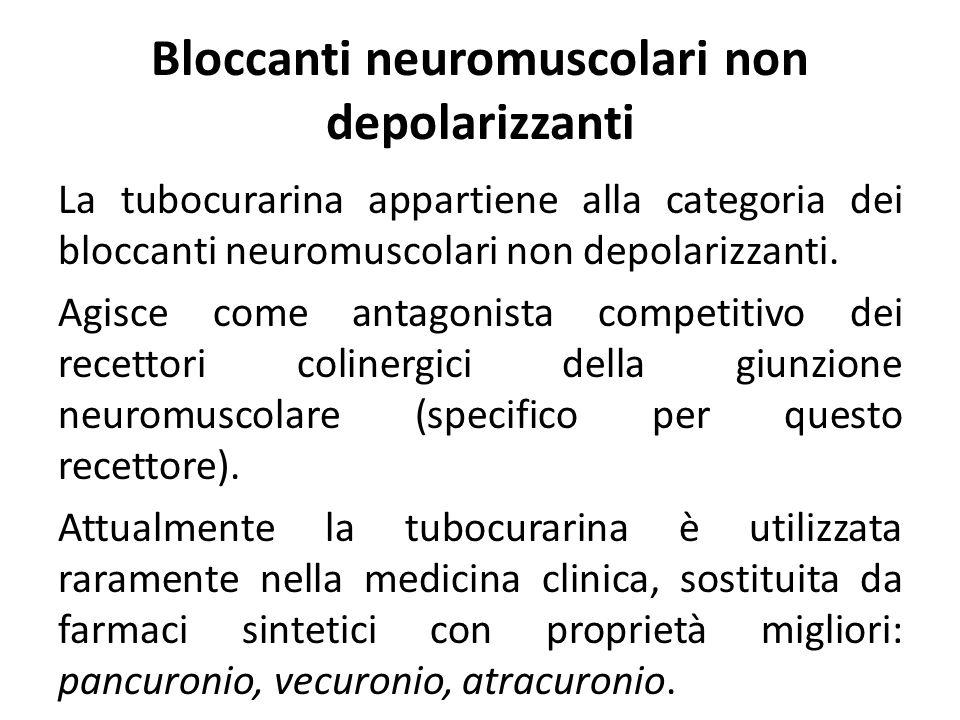 Bloccanti neuromuscolari non depolarizzanti