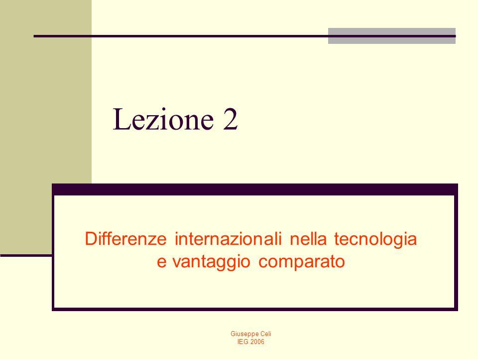 Differenze internazionali nella tecnologia e vantaggio comparato