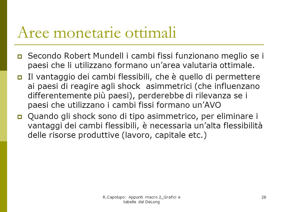 Aree monetarie ottimali
