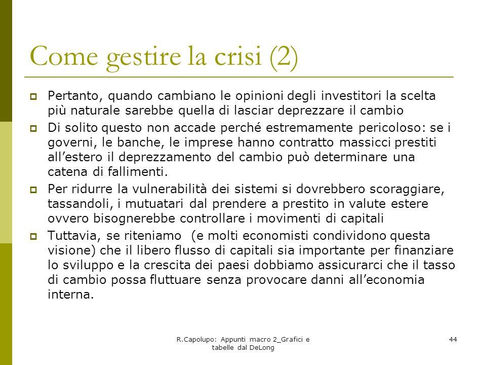 Come gestire la crisi (2)