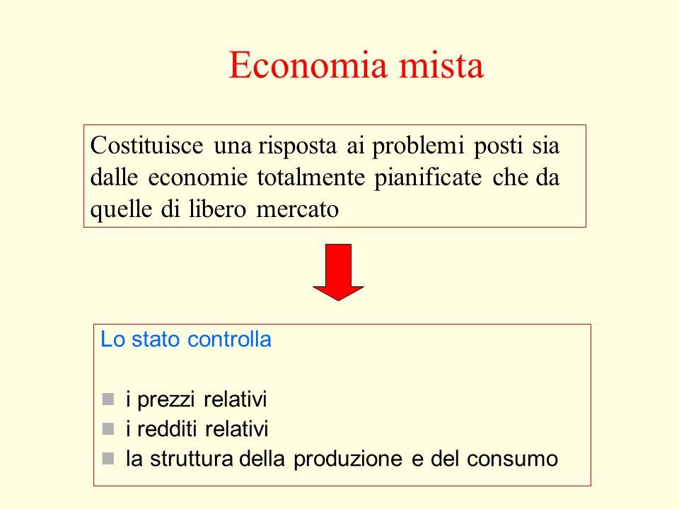 Economia mistaCostituisce una risposta ai problemi posti sia dalle economie totalmente pianificate che da quelle di libero mercato.