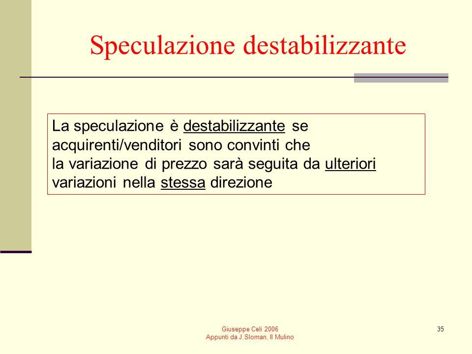 Speculazione destabilizzante