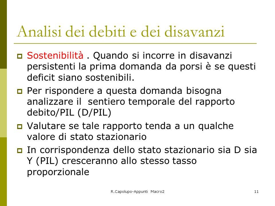 Analisi dei debiti e dei disavanzi