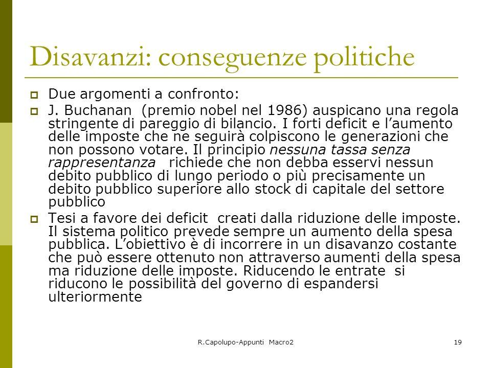 Disavanzi: conseguenze politiche