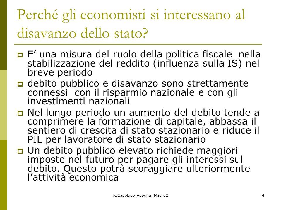Perché gli economisti si interessano al disavanzo dello stato